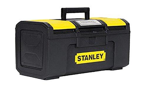 Stanley Werkzeugbox Basic (49 x 27 x 24 cm, Werkzeugorganizer mit Schnellverschluss, schwere Ausführung, Trolley mit ergonomischem Bi-Material Griff) 1-79-217