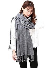 fc72da974c11 Grande écharpe en cachemire Turkistore, couleur pure, hiver, chaud, châle,  grande écharpe longue, châle écharpe wrap…