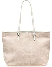 923499f24d2697 Tamaris IVY Damen Handtasche, Shopper, Kroko-Optik, 3 Farben: light grey,…