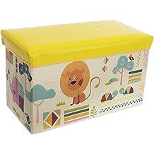 Bieco 04000495 - Caja para juguetes con asiento (60 x 30 x 35 cm), diseño de animales