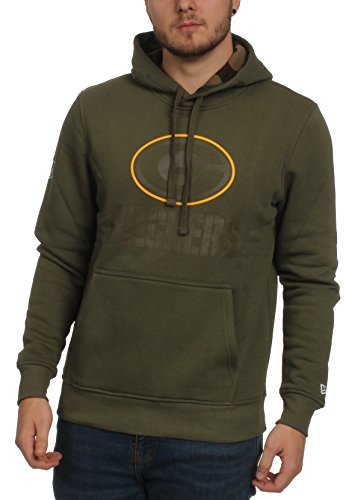 New Era NFL GREEN BAY PACKERS Camo Pullover Hoodie Oliva