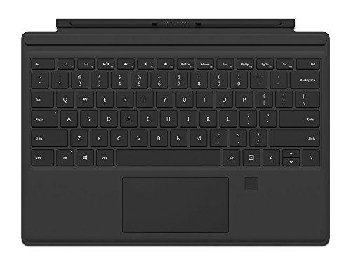 Microsoft Surface Pro Type Cover mit Fingerprint ID (Kompatibel mit Surface Pro 6/Pro/Pro 4/Pro 3, LED-Hintergr&beleuchtung,Qwertz Tastatur) schwarz