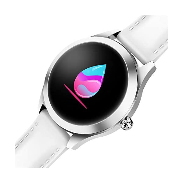FBLWT Smartwatches Reloj Inteligente para Mujer Kw10 Color Ip68 Señoras Rastreador De Fitness Pantalla Táctil Redonda 3