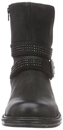 PMS Bovet Ankle Boot, Bottes de motard courtes, doublure froide femme Noir - Schwarz (Black/Black)