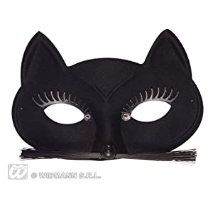 Black Cat Eyemask Feline & Cat Masks Eyemasks & Disguises for Masquerade Fancy Dress Costume Accessory