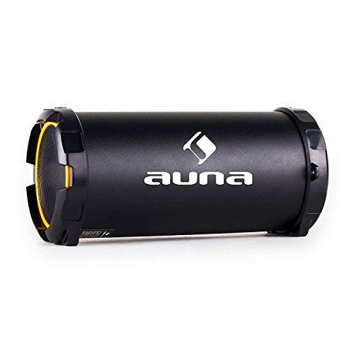 Auna Dr. Beat 2.1 Cassa Acustica Speaker Portatile (Dispositivo Bluetooth, Batteria Integrata, Porta USB, Slot SD, Ingresso AUX, Cinghia per Trasporto) - Giallo