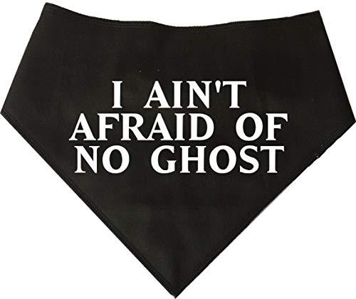 Retro 1980 Kostüm - Spoilt Rotten Pets Hundehalstuch, mit Aufschrift I Ain't Afraid of No Ghost - Ghostbusters Retro 1980er Jahre Hund Halloween Kostüm