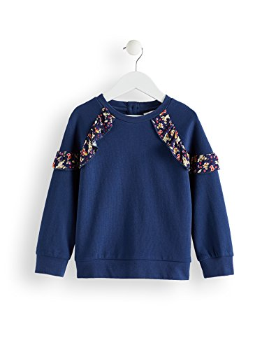 RED WAGON Sweat-Shirt à Volants Fille, Bleu (Navy), 11 ans