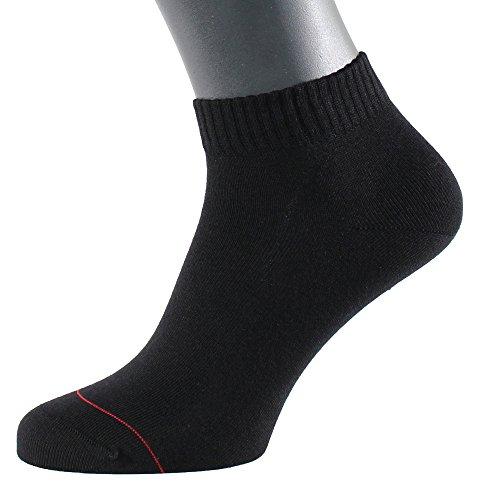 ALBERT KREUZ calzini corti sportivi - calzini sneaker da uomo - in cotone con argento - antibatterici e anti-odori - color nero 48-50