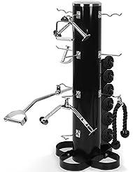 Physionics - Rack de rangement pour accessoires de tirage (barres, poignées, cordes de tirage)