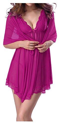 exy Braut Dessous Babydoll Nachtwäsche Nachtwäsche Outfits Gr. Medium, Rosarot (Sexy Outfits Für Verkauf)