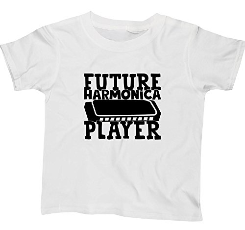 Hippowarehouse Future Harmonica Player Kids Children's Short Sleeve t-Shirt