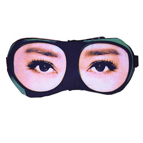 yzhk schlafmaske Schwarz Ice hot Augenmaske Schlaf Schattierung atmungsaktiv niedlichen Eisbeutel entlasten Ermüdung Persönlichkeit Augenmaske, Brillen weibliche Modelle (Modelle Hot Niedlichen)
