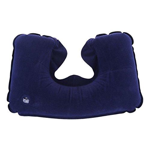 TOOGOO(R) Almohada Ajustable inflable portatil de viaje con el amortiguador de apoyo suave para Cabeza y Cuello