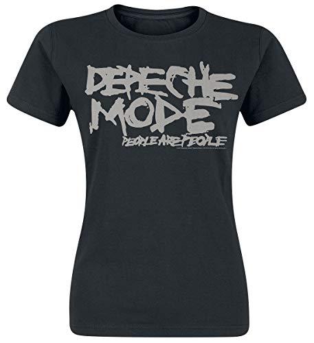 Depeche Mode People Are People Camiseta Negro S