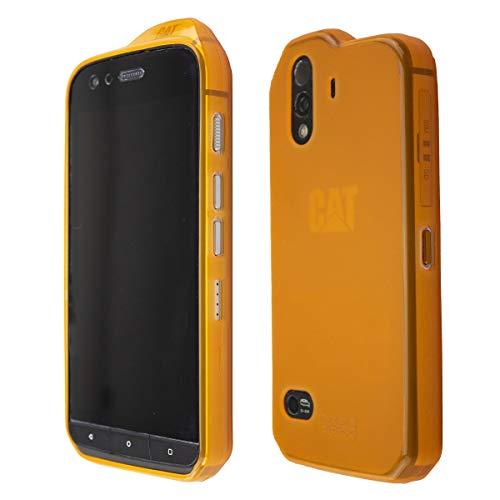 caseroxx TPU-Hülle für CAT S61, Tasche (TPU-Hülle in orange)