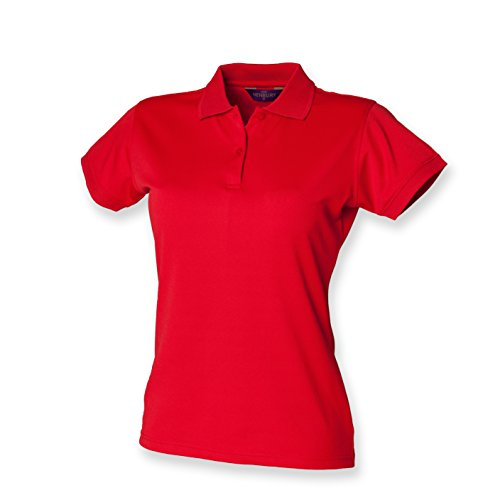 Henbury -  Polo  - Donna Rosso (Classic red)
