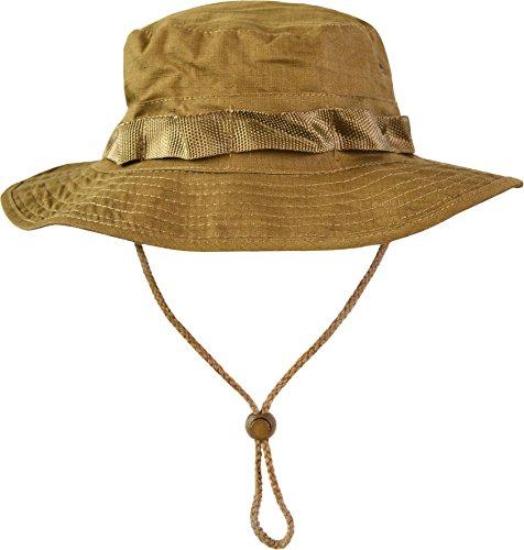 normani Australian Outdoor Hut Boonie Hat in vielen Farben und Grössen Farbe Coyote Tan Größe M -