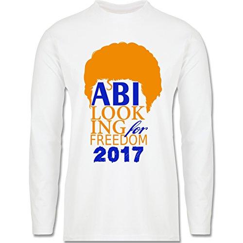 Abi & Abschluss - ABI looking for freedom 2017 - Longsleeve / langärmeliges T-Shirt für Herren Weiß