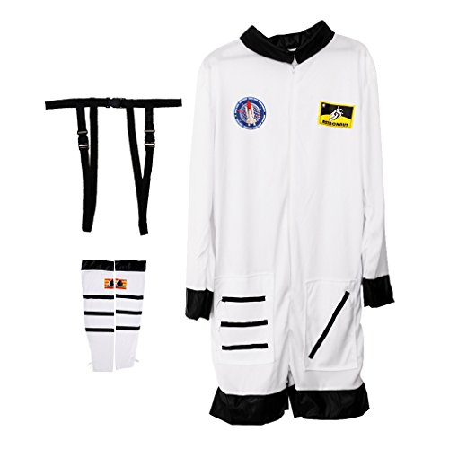 MagiDeal Damen Astronaut Kostüm Raumfahrer Raum Jumpsuit Halloween Fancy Dress Outfit (Halloween-kostüme Astronaut)