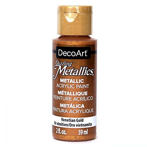 DecoArt Americana Acrylic Metallic Paint, Venetian's Gold -