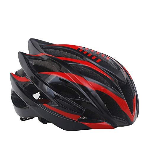 DEI QI Fahrradhelm, Rennradhelm, integriertes Formteil, Schutzhelm für Damen und Herren (Farbe : Black, Size : M/L)