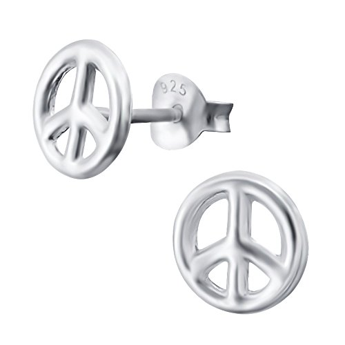 Laimons Damen-Ohrstecker Peace glanz Sterling Silber 925