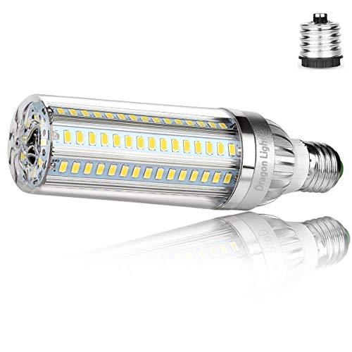 50W Superhelle Mais Licht LED Glühbirne(Ersetzt 350Watt) - E27 Edison LED Lampe mit E40 Adapter - 6500K Kaltweiß 5500 Lumen für Großes Gebiet Beleuchtung -Garage Lagerhaus Werkstatt Fabrik Laterne Hof