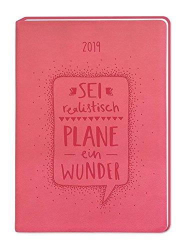Terminplaner Lederlook A6 Flamingo (Plane ein Wunder) 2019