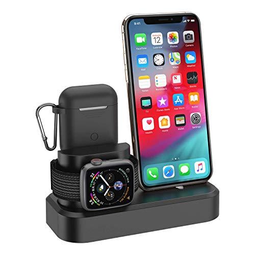 Estación soporte carga 3 in1 Apple Watch Airpods