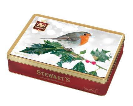 150g Shortbread Christmas Collection - Robin in Snow - Rotkehlchen im Schnee / 150gramm Feinstes shottisches Shortbread in einer geschmackvollen Dose zum sammeln oder verschenken