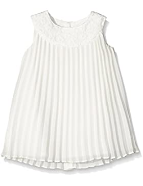 Mamas and Papas Lace Collar Pleated Dress Off White, Vestito Bimbo