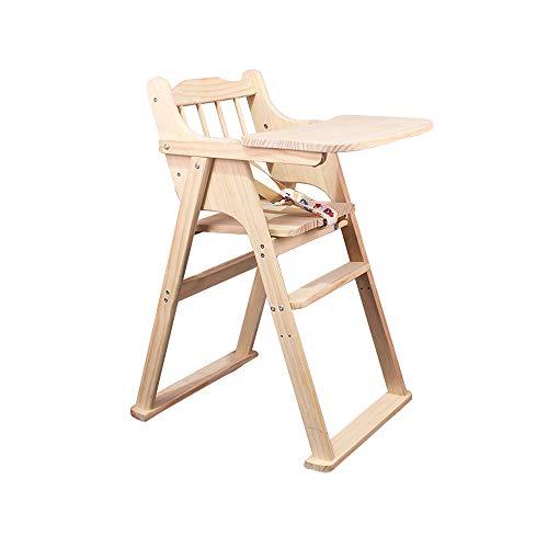 YQQ Siège en Bois Massif Tabouret De Sécurité pour Bébé Table Enfant Chaise Bébé Multifonctionnelle Chaise Bébé Chaise Pliante