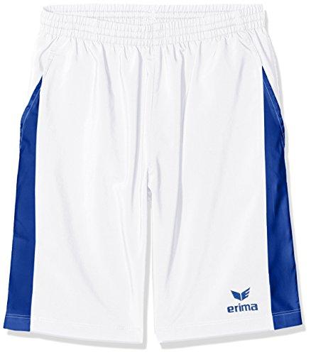erima Jungen Masters Weiß Short, Weiß/Mazarine Blue, 164 (Personalisierte Trainingshose)
