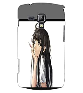 PrintDhaba Dreaming Girl D-1371 Back Case Cover for SAMSUNG GALAXY S DUOS 2 S7582 (Multi-Coloured)