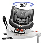 ⭐ Rotating Baby Car Seat 0-18kg, 360°, Isofix, Groups 0+/1, ECE R44/4 Compliant (Maximum Safety for your Child) - 0+ 1 Car Seat, Reclinable, Swiveling with Booster Seat - Baby and Child Car Seats