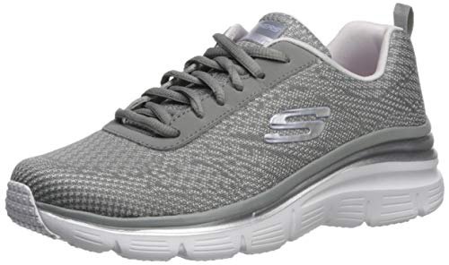 Skechers fashion fit-bold boundaries, scarpe da ginnastica donna, grigio (grey/lavender gylv), 38.5 eu