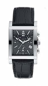 Philip Watch Yeros - R8271924095 - Montre Homme - Chronographe Analogique - Dateur - Bracelet Cuir Noir