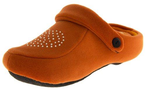 Defonseca Donna Sabotto Diamante Arancione Slingback Pantofole Mulo Zoccoli EU 37-38
