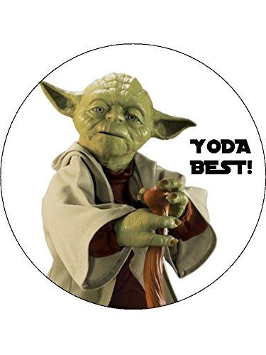 Kuchendekoration 7.5 Star Wars Yoda Best, essbare Zuckerguss-Geburtstagskuchendekoration