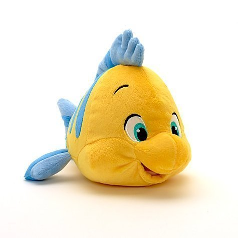Disney Little Mermaid Flounder Small Soft Plush Toy 11""