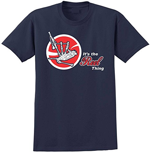 (Bagpipe The Reel Thing RED - Navy Marine Blau T Shirt Größe 157cm 63in 6XL MusicaliTee)