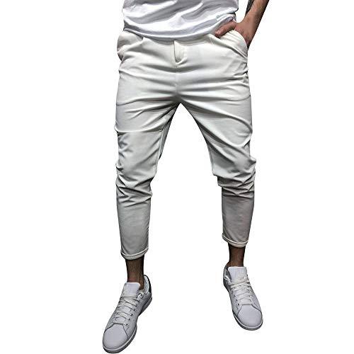 Somesun-pantaloni sportivi da uomo casual elastico larghi tasche pant tinta unita uomo, pantaloni selvatici a gamba dritta skinny stretti caviglia elasticizzati lavoro sportivo invernali