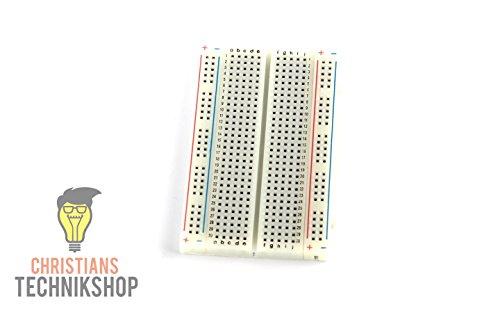 Shop Breadboard Steckbrett Mini - 400 Kontakte 85 mm x 55mm - Arduino, Raspberry ()