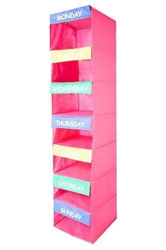 saganizer Aktivitäten Organizer Kids 7Regal tragbar zum Aufhängen von Kleidung Closet Organizer Toll Closet Lösungen -