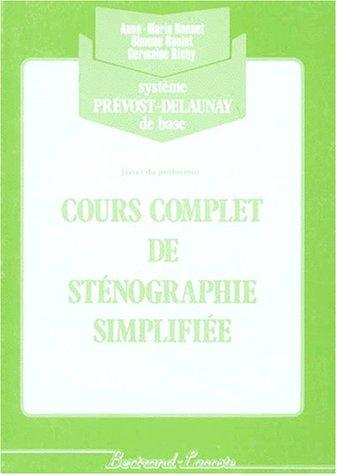 Corrige cours complet de steno (vert)