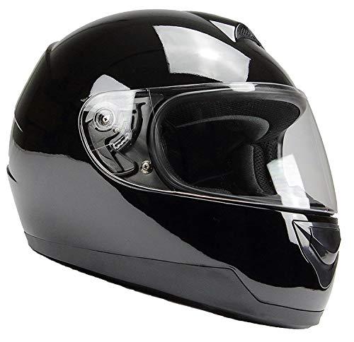 Integralhelm Motorradhelm Helm BNO F500 erschiedene Farben (XS,S,M,L,XL,XXL) (XXL, Schwarz glänzend)