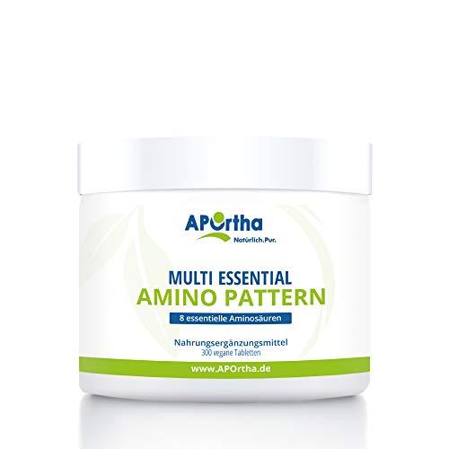 APOrtha Multi essential Amino Pattern | 8 verschiedene Aminosäuren | 300 Tabletten | vegan -