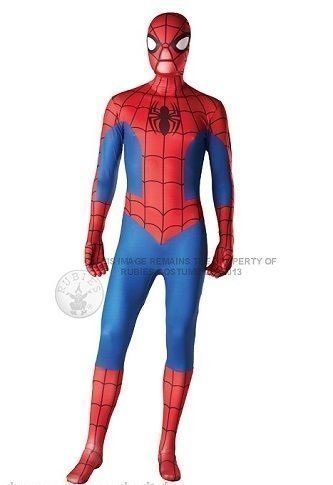Power Captain Kostüme (Herren Superheld 2nd Skin Robin Batman Spiderman Superman Iron Man Captain America Power Ranger Ganzkörper Stretch Overall Halloween Kostüm Kleid Outfit - Spiderman, Medium (5'4 and)