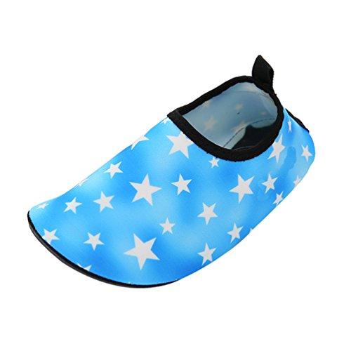 Yuanu Unisex Kinder Barfußschuhe Wasserschuhe Strand Schwimmen Schnelltrocknend Slip on Schnorcheln Aquaschuhe 1B 24